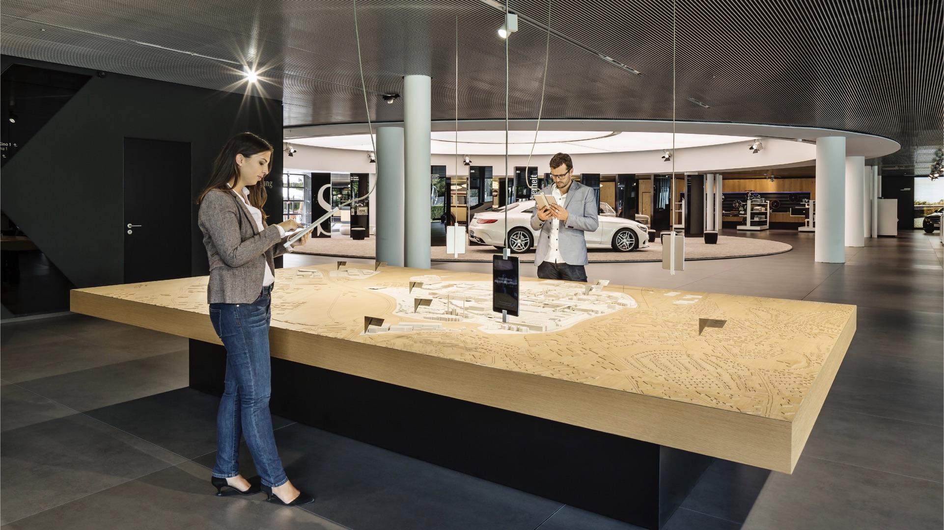 Mercedes-Benz Kundencenter Sindelfingen Interaktives Modell